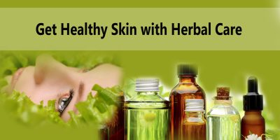 Healthy skin with herbal care