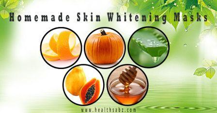 homemade skin whitening
